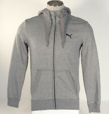 Puma Heather Gray Zip Front Hooded Sweat Jacket Hoodie Mens NWT