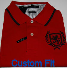 Tommy Hilfiger Mens Polo Shirt Red Custom Fit Large Mens New Nwt V194
