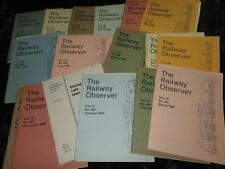 "VINTAGE MAGAZINES ""The Railway Observer"" 1965 1966 1967 Choose From Selection"