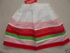 Gymboree WATERMELON PICNIC White Pink Red Green Ribbon Stripe Skirt NWT Easter
