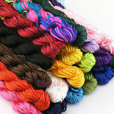 1Roll Nylon Cords Chinese Knot Satin Macrame Beading Bracelet String 14Mx1.5mm