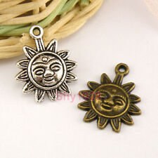 8Pcs Tibetan Silver,Antiqued Bronze, Face SunFlower Charms Pendants M1479