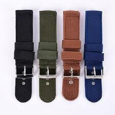 Men Lady Military Army Nylon Fabric Canva Wrist Watch Band Strap 18/20/22/24mm