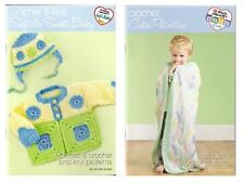 Red Heart Baby Project Books - Crochet & Knit 2 to Choose From Crochet Knit fnt