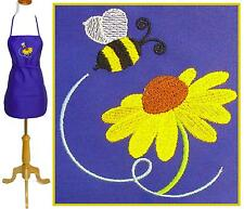 "Bee 24"" or 30"" Apron Buzzing Bumble Monogram Kitchen Chef or Artist Smock Custom"