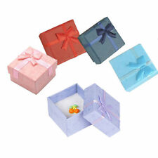 Hot Sell Lots 5 Pcs Jewellery Jewelry Gift Box Case For Ring Square Colorful HF