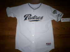 SAN DIEGO PADRES NEW MLB MAJESTIC AUTHENTIC KIDS GAME JERSEY
