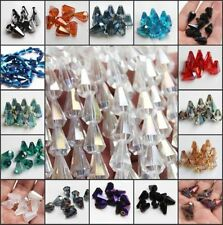 10pcs 10x14mm DIY Colorful Teardrop Glass Crystal Charm Loose cone body Beads