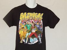 Big Bang Theory Bazinga Tee Shirt Mens Sizes Black Sheldon Cooper Leonard Penny