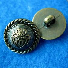 10 Sewing Buttons Craft Crown Round Shank DIY Vintags Like Lots Accessory Appliq