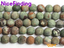 """10mm Frosted Matte Gemstone Green Opal Round Beads For Jewelry Making Strand 15"""""""