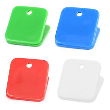 Office Plastic Square Spring Loaded Paper Document Memo Note Binder Clip 10pcs