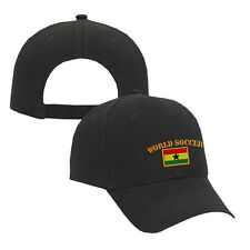 WORLD SOCCER GHANA FLAG Embroidery Embroidered Adjustable Hat Cap