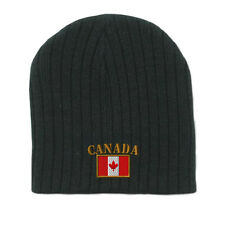 CANADA FLAG Embroidery Embroidered Beanie Skull Cap Hat