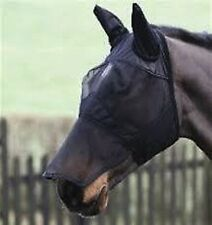 SHIRES FINE MESH FLY MASK 6654 ears and nose shield insect veil horse pony cob