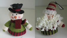 Soft Beanie Santa & Snowman Hanging Christmas Tree decorations New