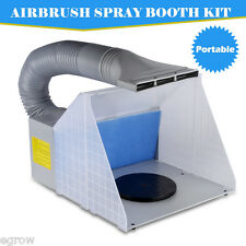 New Air Brush Airbrush Spray Booth with extractor Hose Kit for Art Craft Paint