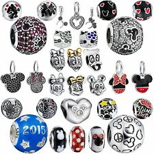 2017 Brand European 925 Silver Sterling Bead Lovely Cartoon Charms For Bracelets