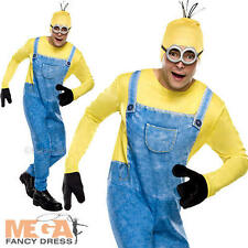 Minions Kevin Mens Fancy Dress Despicable Me Movie Adults Minion Costume Outfit