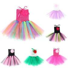 Colorful Chic Baby Toddler Infant Girl Party Chiffon Tutu Dress Newborn 0-5 Y
