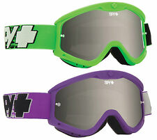 SPY TARGA 3 MOTOCROSS MX GOGGLES BURNOUT GREEN PURPLE with SILVER MIRROR