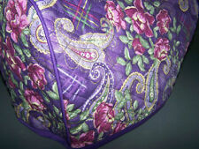 Purple Paisley Quilted Fabric 2-Slice or 4-Slice Toaster Cover NEW