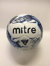 5 x MITRE MISSION TRAINING FOOTBALLS - WHITE/SKY/NAVY -  SIZES 3, 4 & 5