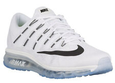 NEW MENS NIKE AIR MAX 2016 RUNNING SHOES TRAINERS SUMMIT WHITE / WHITE / BLACK