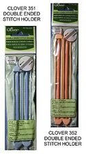 NEW CLOVER DOUBLE ENDED STITCH HOLDER  * Your Choice * Knitting Stitch Holders