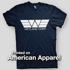 WEYLAND CORP Building Better Worlds Aliens Ripley AMERICAN APPAREL T-Shirt