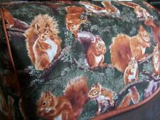 Squirrels WIldlife Quilted Fabric 2-Slice or 4-Slice Toaster Cover NEW
