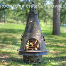 Chiminea Outdoor Firepit Garden Design - Available in 3 Color Options