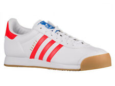 NEW MENS ADIDAS ORIGINALS SAMOA CASUAL SHOES LEATHER TRAINERS WHITE / SOLAR RED