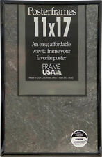 11x17 Poster Frame Pack of 3 Frames - Black, Gold, Silver, or Clear