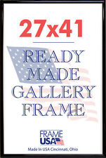 27x41 Deluxe Poster Frame Pack of 3 Frames - Black, Silver or Gold