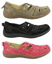 PLANET SHOES BARMY WOMENS/LADIES LEATHER COMFORT SUEDE CASUAL SLIP ON SHOES