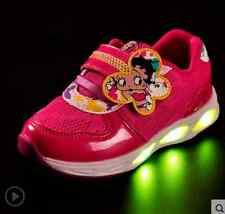 Boys Girls LED Light up Cute Sneakers Kids Dance Party Sport casual Shoes BN26
