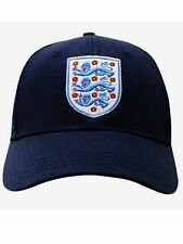 MENS OFFICIAL ENGLAND Embroidered 3 Lions Peak Cap / Hat (Navy or White)
