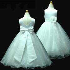 Kids Wedding Party Flowers Girls Bridesmaid Dresses SIZE 1,2,3,4,5,6,7,8,10,12Y