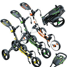 """Masters Golf  """"iCart Compact One"""" 3 Wheel Push Trolley + FREE 3 Wheel Cover Set"""