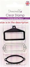 DOVECRAFT SMALL CLEAR CLING STAMPS - DCCS036 - ORNATE FRAMES - FRAME TRIP