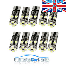 T10 501 W5W SIDE LIGHT BULBS CANBUS ERROR FREE 8 SMD LED XENON HID WHITE