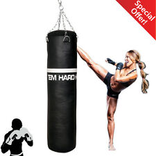 HTH Vinyl Leather Heavy Punch Bags Workout Boxing Gym Training Punching Karate