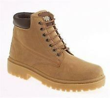Mens Leather Suede Padded Honey Sand 7 EYE Lace Work Casual Grip Boots UK 6-12
