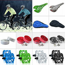 Bicycle Bike Seat Cushion /Hollow Out Saddle Seat/Flat-Platform Pedals/Handlebar
