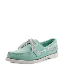 Womens Sebago Dockside 40th Anniversary Aqua Leather Boat Deck Shoes Size