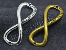 3/10/50pcs Tibetan Silver Tone 8 Infinity Sign Jewelry Charms Connectors 51x20mm