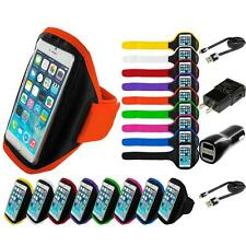 For Apple iPhone 6S Plus 5.5 Gym Sport Running Armband Arm Band Case 2X Chargers