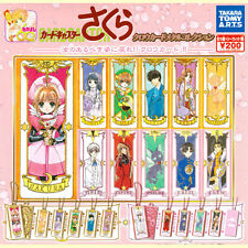 Takara Card Captor Kinomoto Sakura Clow Card Metal Collection Key Chain Swing