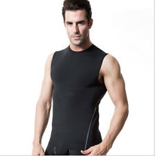 Mens Athletic Compression Base Layer Fast Drying Sleeveless Under Skin Shirt New